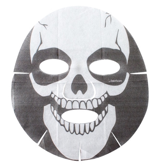 for a little trick or treat action put on one of these spooky skull sheet masks and hand out candy to your