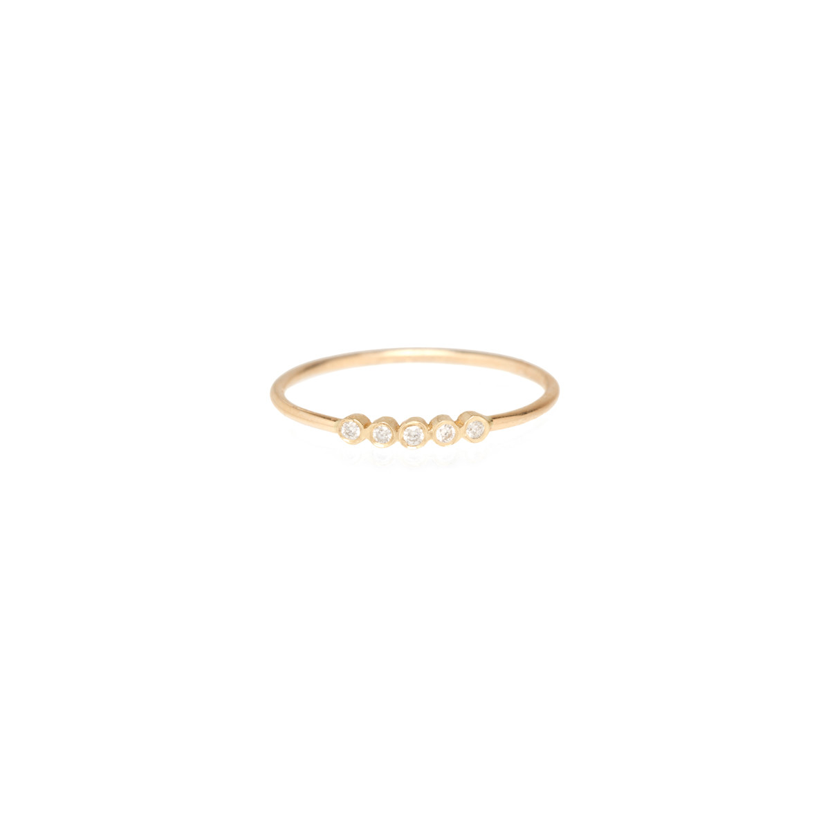 Zoe Chicco 14k 5 Tiny Diamond Bezel Ring $285 The Best Part About This  Understated Ring? The Ability To Pair It With More Simple Rings (future  Anniversary