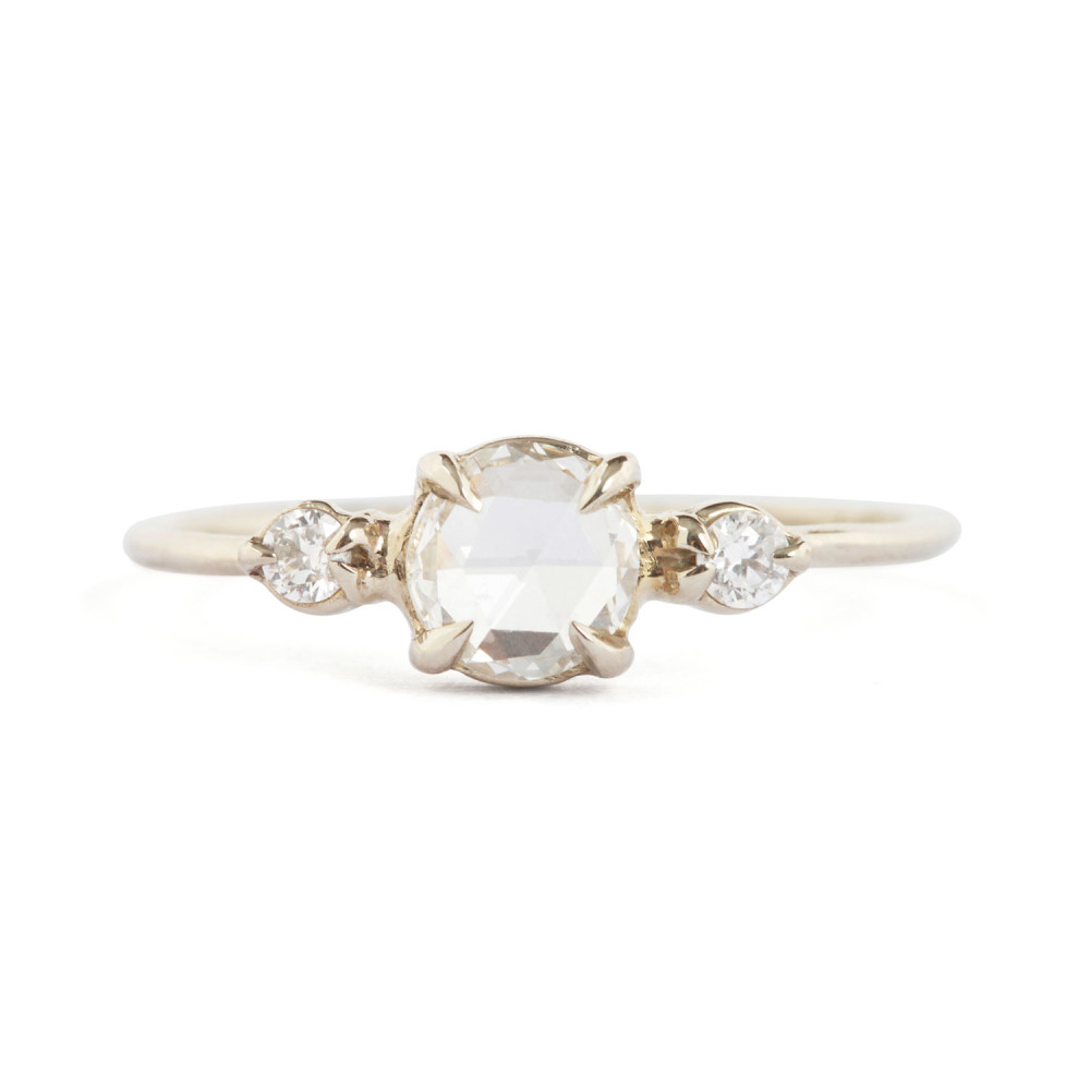 Definitely The Most Sophisticated Out Of The Bunch, We Love This Romantic  Threestoned Ring Because It Captures The Essence Of Elegance Beautifully